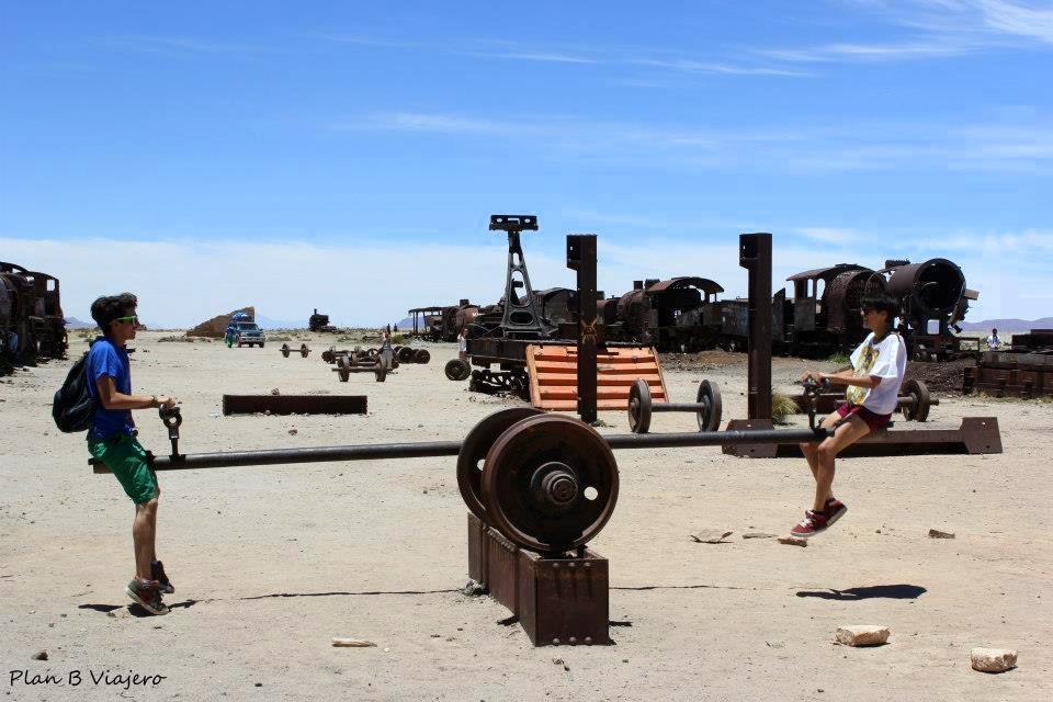 plan b viajero, salar de uyuni, Salar Uyuni, Bolivia, cementerio de trenes