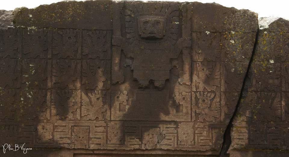 El dios Tunupa en el centro de la Puerta del Sol