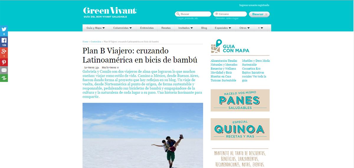 Entrevista en Green Vivant
