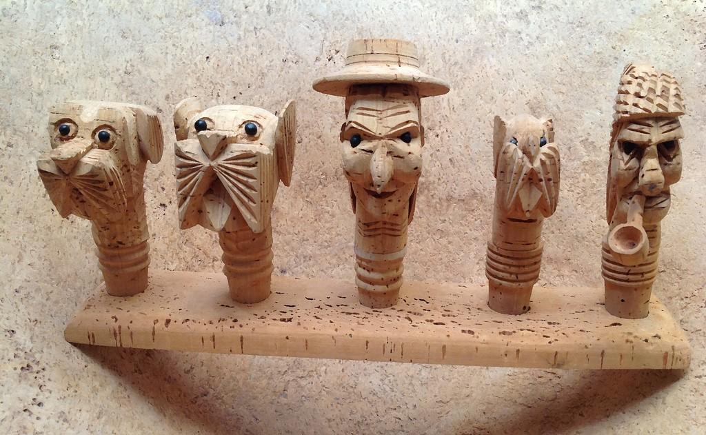 Esculturas hechas con corcho