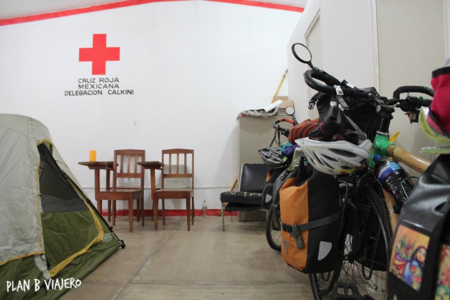 plan b viajero, peninsula de yucatan , calkini cruz roja