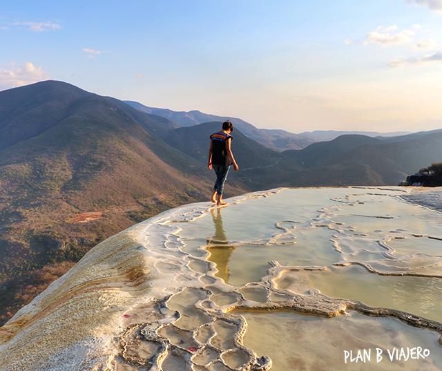plan b viajero, hierve el agua, lugares imperdibles de oaxaca, lugares para visitar cerca de oaxaca