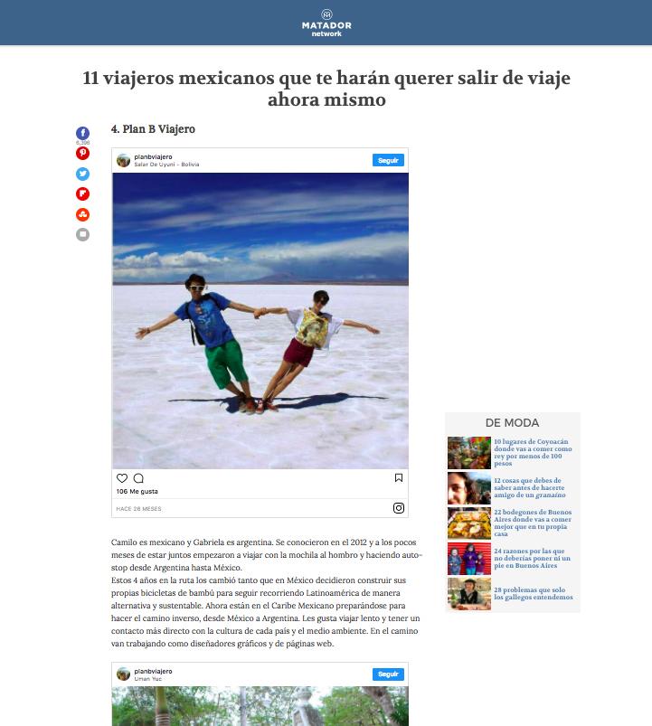 plan b viajero, matador network español