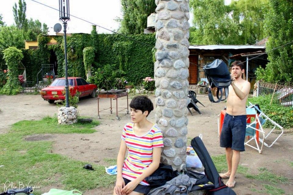 Descansando en el camping que nos quedamos