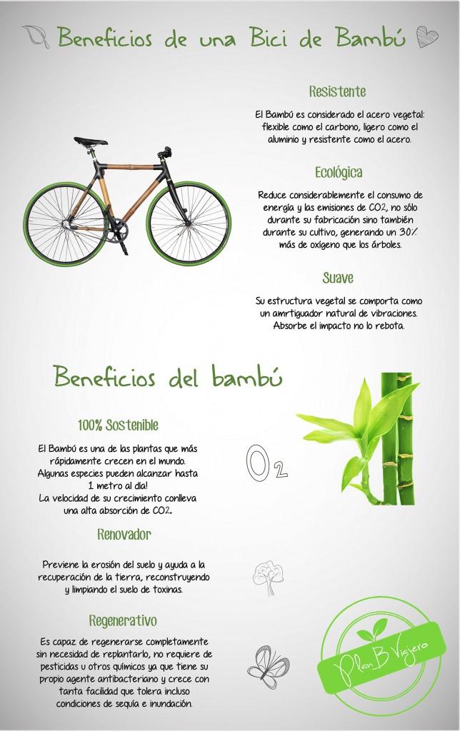 plan b viajero, proyecto ecológico, bici de bambú, beneficios bicicleta de bambu