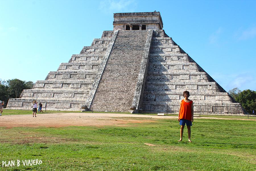 plan b viajero , Península de Yucatán en bici, Chichén Itzá Pirámide de Kukulkán